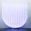 DANIEL BUREN Optical Fiber, White and Blue Half Circle, Situated Work, 2012  Fiberoptic fabric, electrical hardware 99 1/3 x 99 1/3 x 6 inches