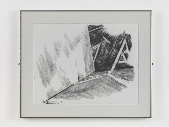 DANIEL LIBESKIND JMB Drawing #1, n.d. (Jewish Museum, Berlin) Charcoal on paper 19 x 24 1/2 inches