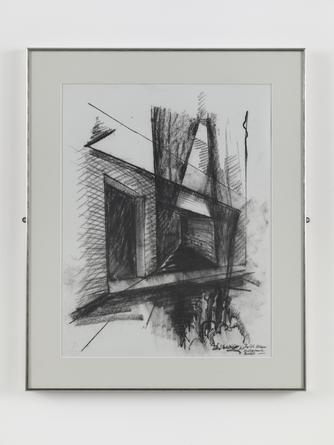 DANIEL LIBESKIND JMB Drawing #2, n.d. (Jewish Museum, Berlin) Charcoal on paper 24 1/2 x 19 inches