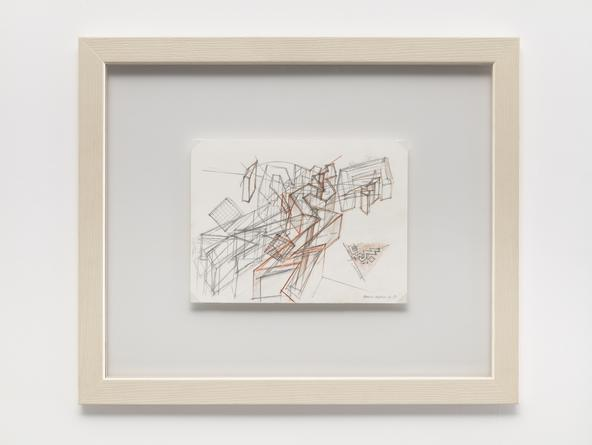 DANIEL LIBESKIND JMB Drawing #3, 1989 (Jewish Museum, Berlin) Graphite & colored pencil on paper 9 1/2 x 12 inches
