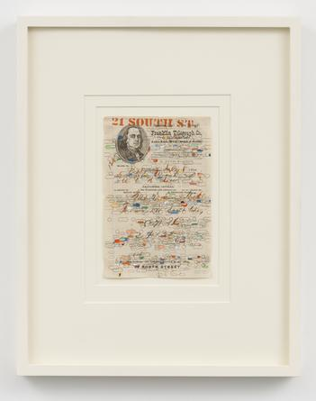 Untitled, 2010 Gouache, pencil & ink on found paper 8 1/2 x 5 3/4 inches SGI2699