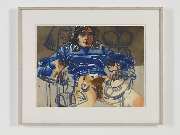 radio amnesia pt 2: a survey of works on paper 1997-2013 David Salle Untitled WPO #100, 1989 Watercolor on paper 18 x 24 inches GLG2438