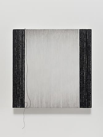 Love Song #18, 2012 Oil, ink & thread in linen 14 x 14 inches GLG2517