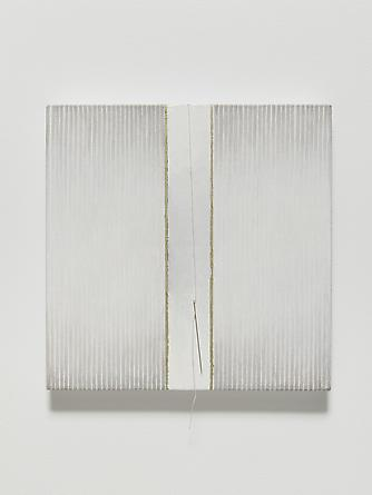 Elena del Rivero Love Song #23, 2012 Oil, ink, needle & thread on linen 14 x 14 inches