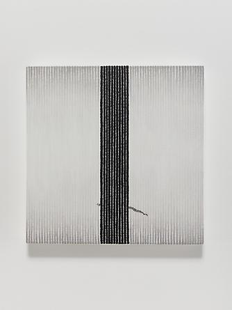 Love Song #25, 2012 Oil, ink & thread on linen 14 x 14 inches GLG2524