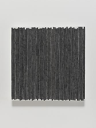 Untitled #2, 2013 Oil, ink & thread on linen 14 x 14 inches GLG2529