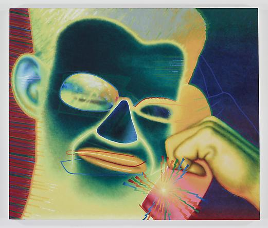 ED PASCHKE Emploi Stable, 1986 Oil on canvas 68 x 80 inches