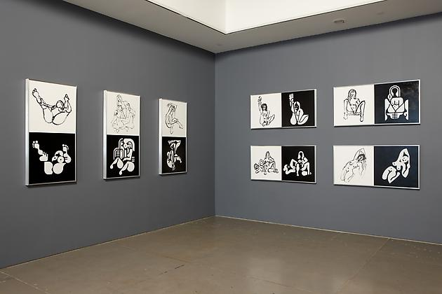 Installation view Ryan McGinness: Women: Sketches & Solutions
