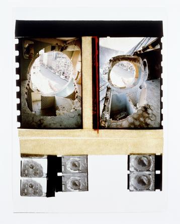 GORDON MATTA-CLARK Conical Intersect, 1975  Silver-dye bleach print 40 x 30 inches