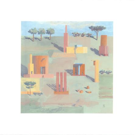 MICHAEL GRAVES Remembered Landscape, 1999 Giclee print 19 x 19 inches #67/100 SGI3104