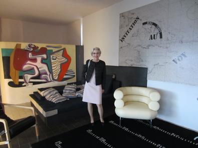Sandra Gering at Eileen Gray's modernist villa E.1027