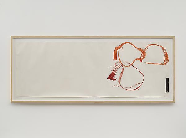 JOHN CAGE New River Watercolors (Series II, #1), 1988  Watercolor on paper 26 x 72 inches