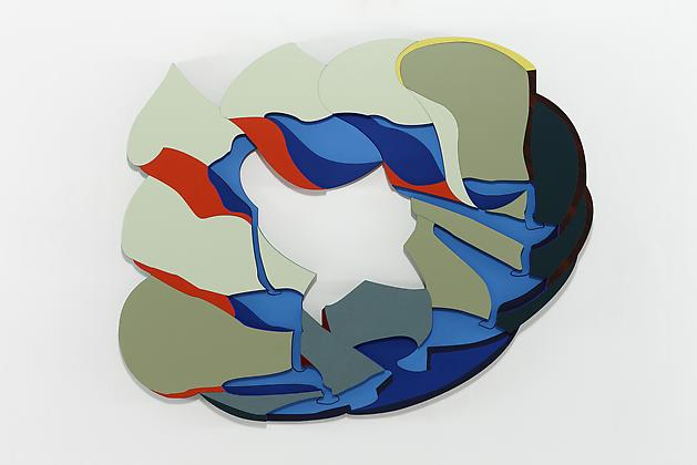 Lakes, 2010 Trupan ultralight, plastic laminate, Flashe paint 58 x 47 x 3/4 inches SGI1517