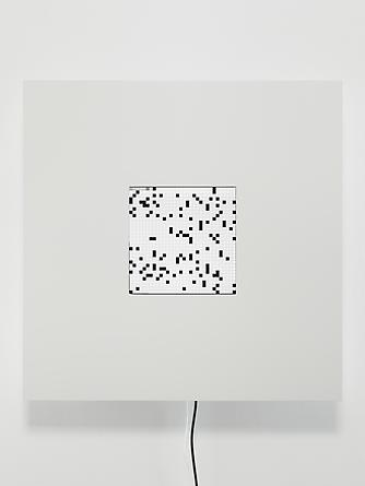 Every Image (Every Icon), 2012 LCD screen, custom software, electrical hardware, wood, laminate, enamel paint 30 x 30 x 4 3/4 inches Unique SGI2241
