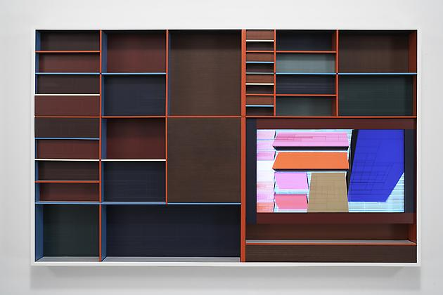 Threshold, 2007 Custom software, LCD screen, Formica, acrylic plastic, lacquered wood 44 ½ x 72 x 6 inches SGI623