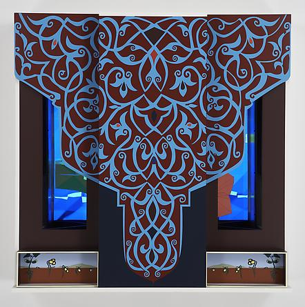 Tree, 2007 Custom software, LCD screen, Formica, mirrored acrylic plastic, lacquered wood 48 x 48 x 13 ¼ inches SGI624