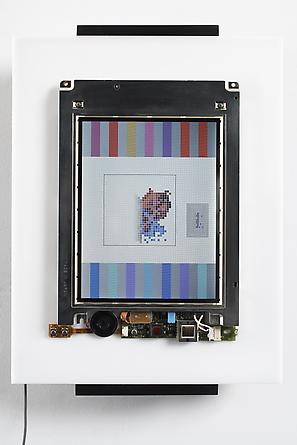 CPU, 1999 Custom software, Macintosh 280c, acrylic plastic 14 1/2 x 10 1/2 x 3 inches Edition of 12 SGI782