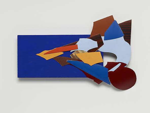 First Moment (Blue), 2013 Trupan, acrylic, plastic laminate 15 x 23 x 3/4 inches