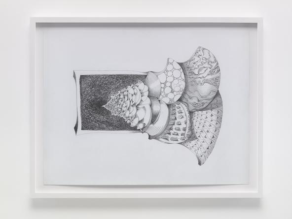Endlessly Expanding, 2015 Graphite on paper 22 1/2 x 30 inches SGI3278