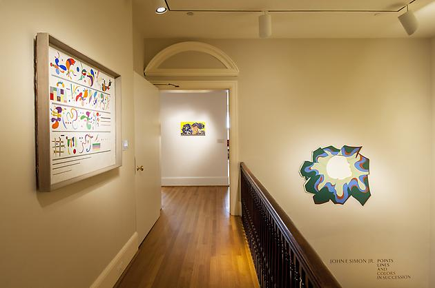Installation view: Points, Lines and Colors in Succession Intersections: John F. Simon, Jr., The Phillips Collection, Washington, D.C.
