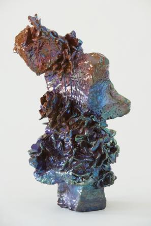 JULIA KUNIN Indigo Garden, 2013, ceramic, 18 x 10 x 11 inches, SGI2598.