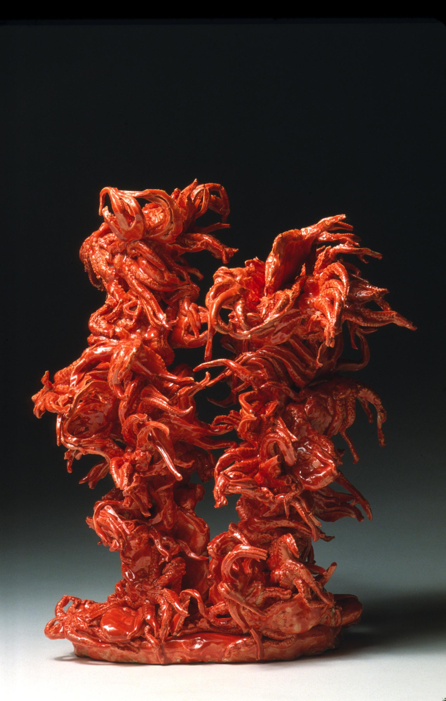 JULIA KUNIN Coral Forest, 2014, ceramic, 22 x 12 x 10 inches, SGI2610.
