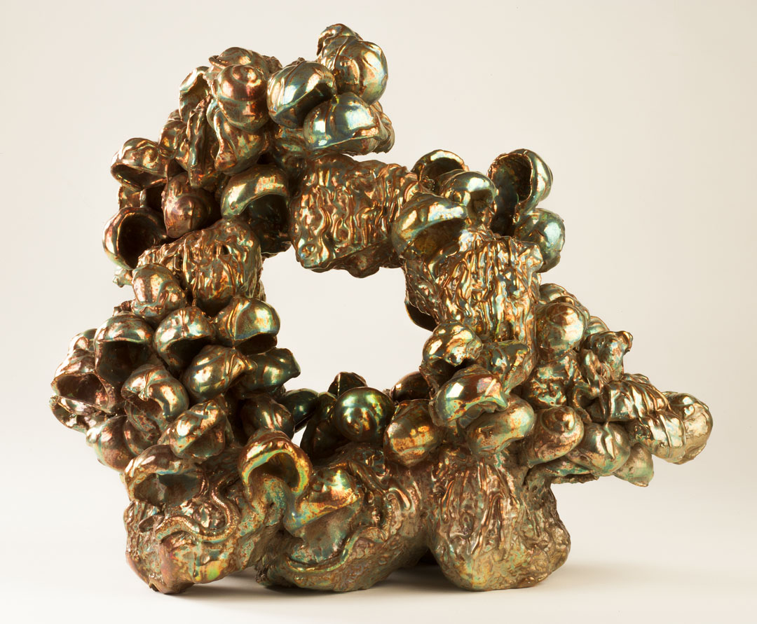 JULIA KUNIN Small Grotto, 2013, ceramic, 14 x 17 x 11 inches, SGI2735.