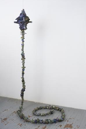 JULIA KUNIN Le Boulon, 2014 Ceramic 240 x 13 x 17 inches SGI2829