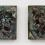 In Blue Stars, 2014 Ceramic 13 x 22 x 2 1/2 inches SGI2881