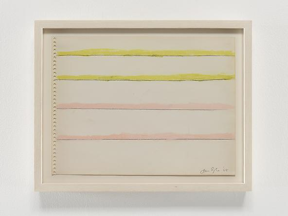 Pink/Yellow/Stripes, 1968 Pastel & graphite on paper 9 x 12 inches GLG2355