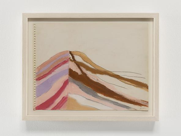 Stripes/Mounds, 1968 Pastel & graphite on paper 9 x 12 inches GLG2359