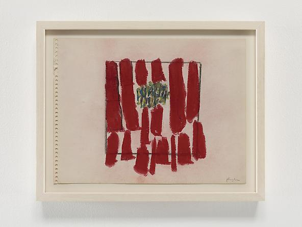 Red Strokes, 1968 Pastel & graphite on paper 9 x 12 inches GLG2362