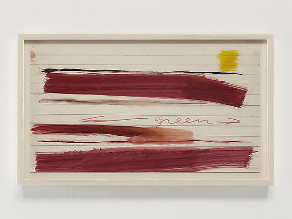 Untitled (1970 series 1_2), 1970 Crayon, watercolor & graphite on paper 11 x 20 inches GLG2365