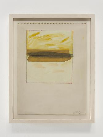 Masking Tape Horizon, 1968 Pastel, graphite & masking tape on paper 12 x 9 inches GLG2366