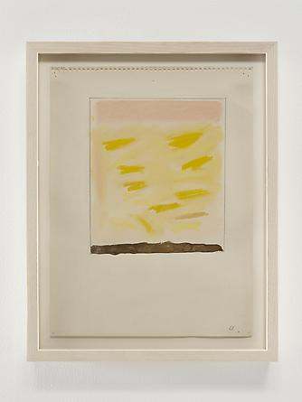 Gold Ground, 1968 Pastel, acrylic & graphite on paper 12 x 9 inches GLG2368