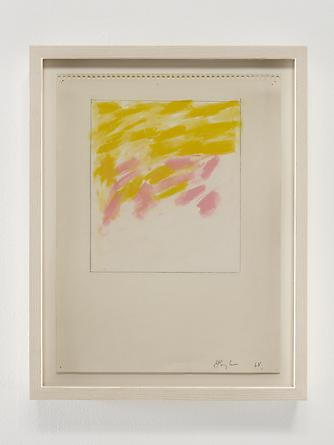 Yellow/Pink/Strokes, 1968 Pastel & graphite on paper 12 x 9 inches GLG2371