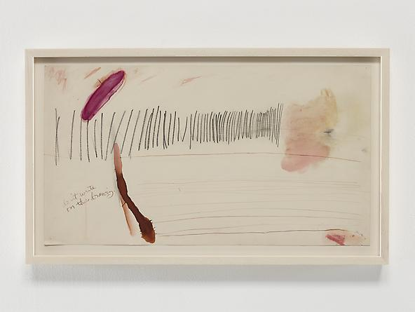 Untitled (1970 series 1_3), 1970 Ink, pastel & graphite on paper 11 x 20 inches GLG2373