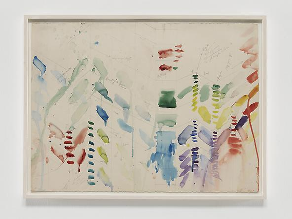 Disintegrate Down, 1971 Watercolor & graphite on paper 22 1/4 x 30 inches GLG2377