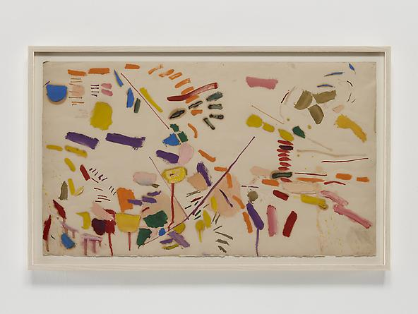 Screams/Whispers, 1972 Oil & graphite on paper 17 1/2 x 30 inches GLG2378