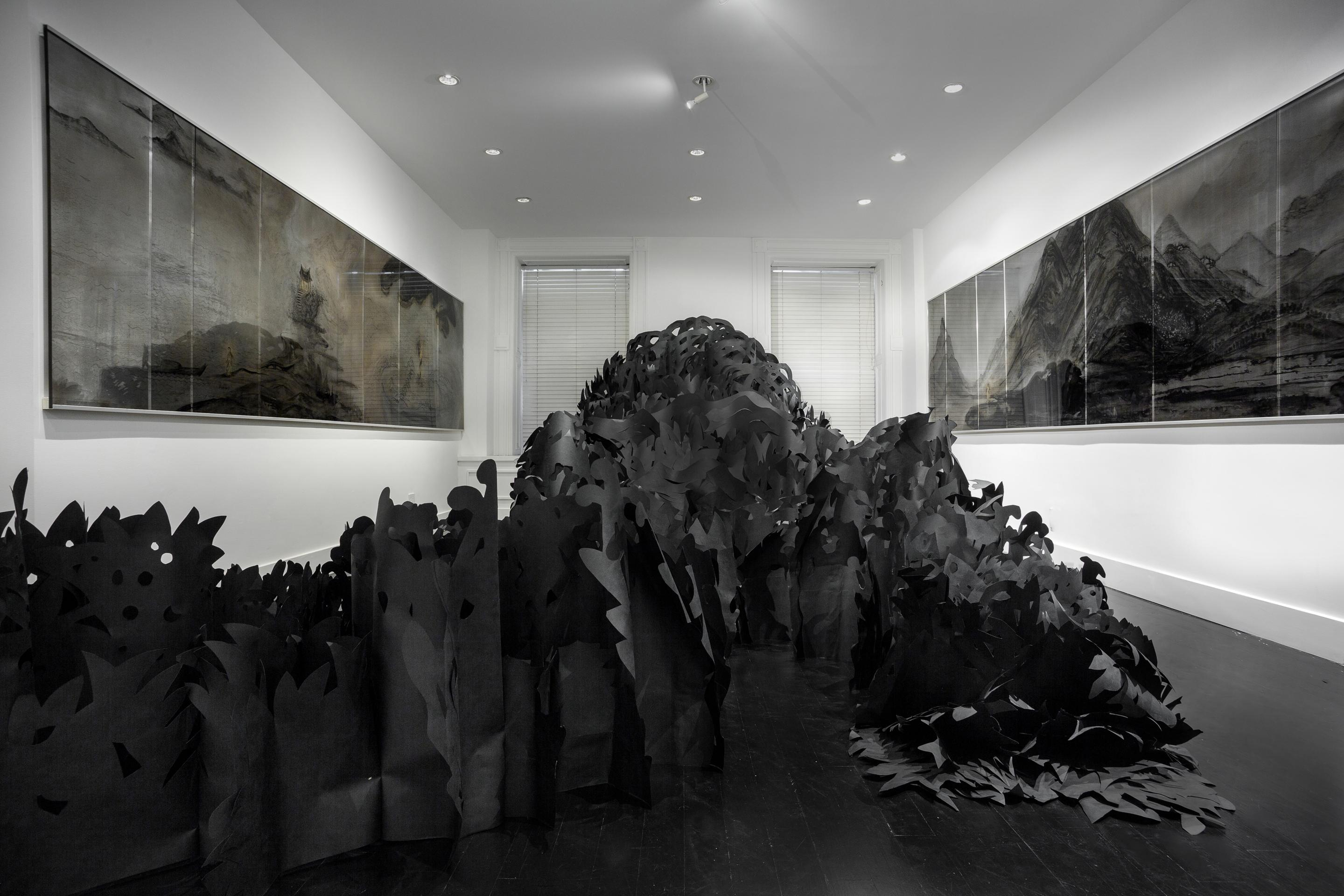 Installation view: Eight Views of Paradise Interrupted