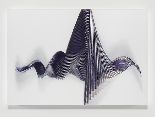 Wirewave #1, 2012 Lenticular print 31 1/4 x 46 1/4 inches Unique