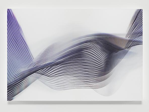 Wirewave #2, 2012 Lenticular print 31 1/4 x 46 1/4 inches
