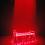 Reincarnation, 2007 Laser lights, bed frame, fabric, fog machine 88 1/2 x 44 inches, height variable SGI2764