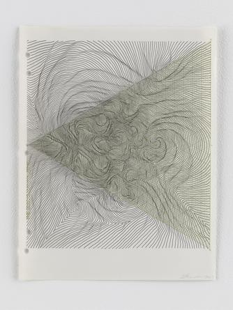 Untitled, 2013 Ink on graph paper 11 x 8 1/2 inches SGI2783