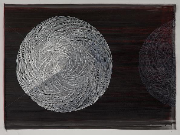 Untitled, 2014 Ink on mylar 15 1/2 x 21 inches SGI2866