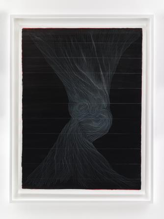 LINN MEYERS Untitled, 2014, ink on mylar, 56 1/2 x 42 inches, SGI2868.