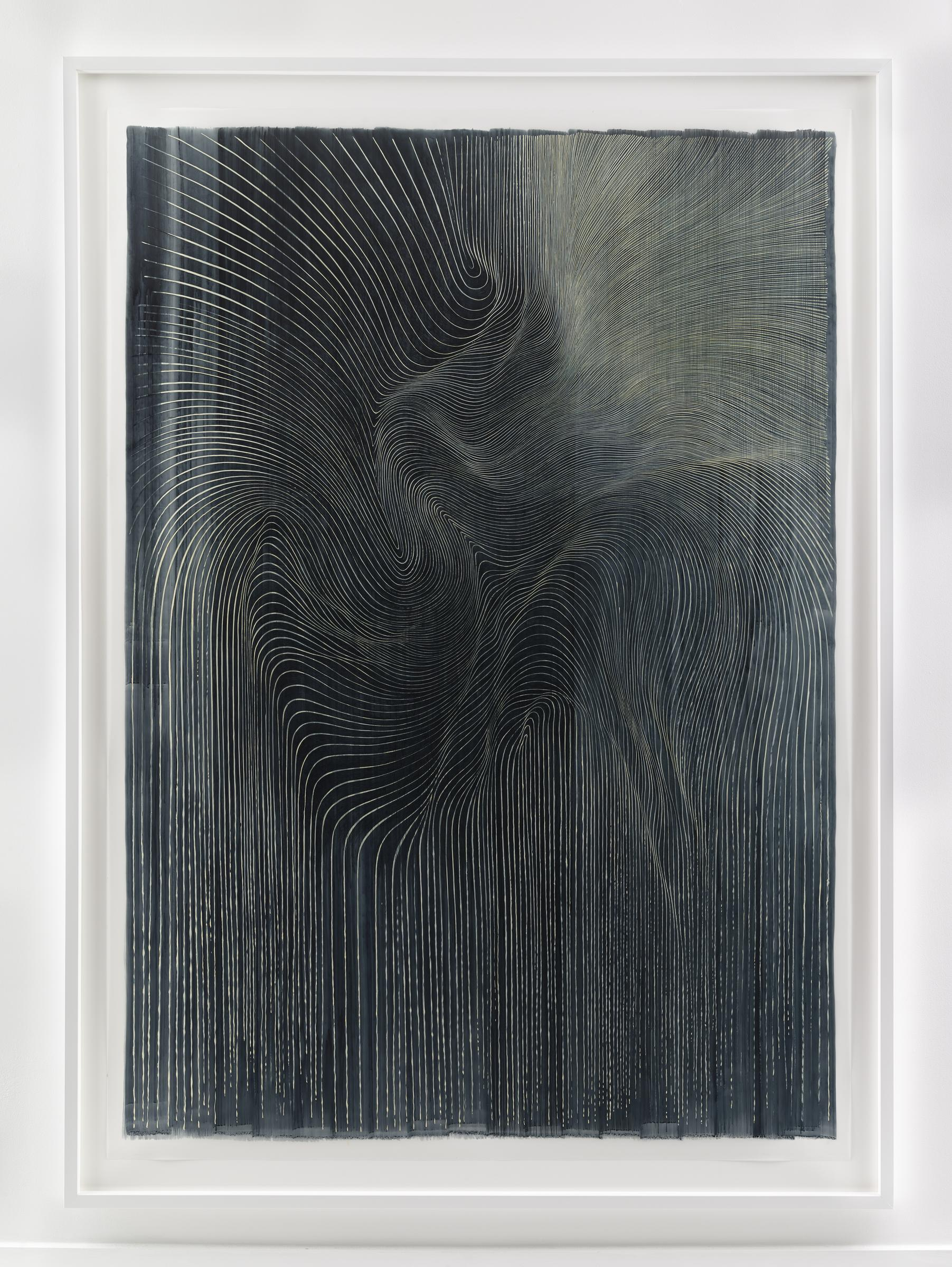 LINN MEYERS, Untitled, 2015, ink on mylar, 75 1/2 x 53 1/2 inches, SGI2990.