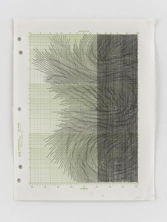 Untitled, 2013 Ink on graph paper 11 x 8 1/2 inches SGI3023