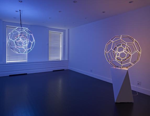 Installation view: Leo Villareal, Buckyball, 2014