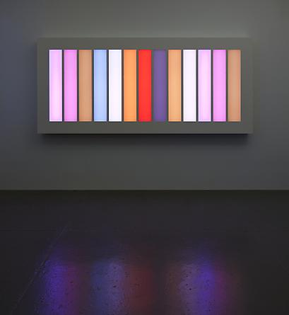 Coded Spectrum, 2011 LEDs, aluminum, Plexiglas, custom software, electrical hardware 103 1/4 x 46 x 6 inches